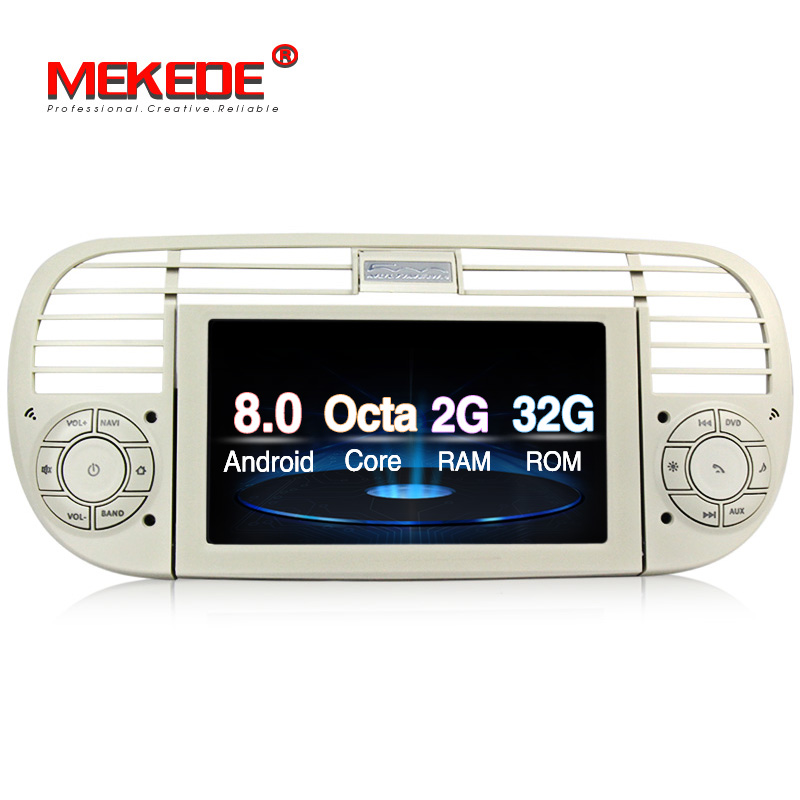 Car Multimedia player PX5 Android 8 0 car dvd gps player navigation for FIAT 500 2007