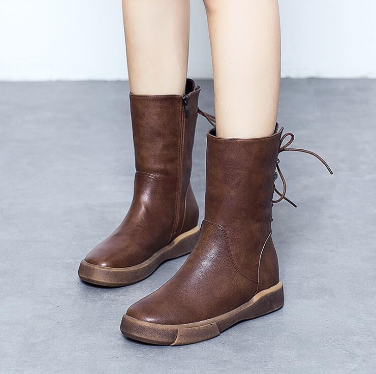 Mujeres Nieve 3 Cuero Botines Señoras La 2018 Las Impermeables Genuino Llegada Nueva Zapatos Felpa 4 Invierno Botas De 2 1 Del Ocasional Bxwxp4Tdq