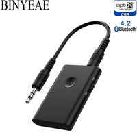A2DP Bluetooth 4.2 Aptx Low Latency RCA Aux 3.5mm stereo Audio Transmitter Receiver Wireless Music home car tv speaker Adapter