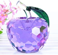 Good Quartz Crystal Glass Crafts Art&collection Romantic Purple Apple 100mm Rare Artificial Gifts Figurines decor dress home
