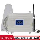 2G 3G 4G Netwerk Tri Band Booster GSM 900 + WCDMA/UMTS 2100 + FDD LTE 2600MHz Mobiele Telefoon Repeater 900 2100 2600 Signaal Versterker Kit - 1