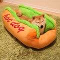 Кровать для хот-догов  большой лежак для собак различного размера  коврик для питомника из мягкого волокна  теплая мягкая кровать для собак ...