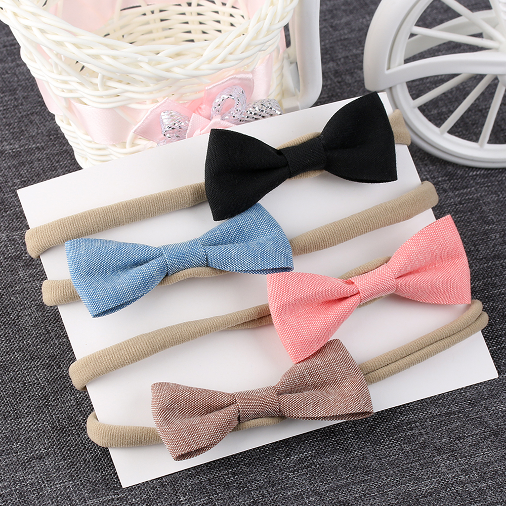 4Pcs/Set Fashion Cute Kid Girls headband Bowknot Headbands Bows Band hair accessories acessorios para cabelo 4pcs set fashion cute kid girls headband bowknot headbands bows band hair accessories acessorios para cabelo