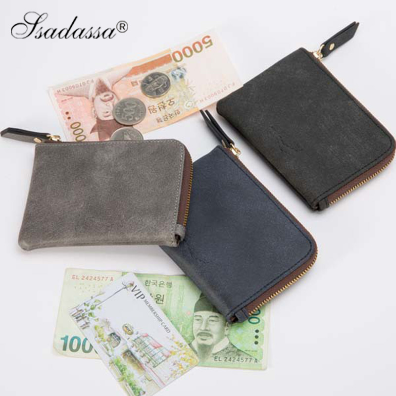 england style zipper coin purses wallets male pu leather unisex top quality card holder short women bags drop shipping wholesale