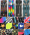 Clip-on Mens Suspenders Ladies Unisex Adjustable Braces Elastic Suspenders UZ