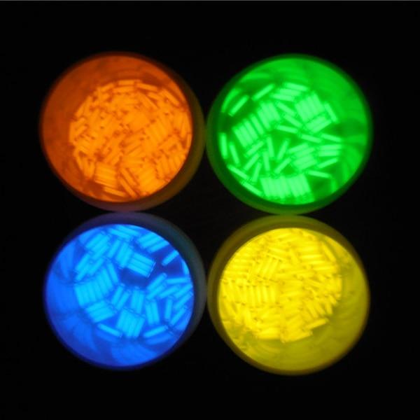 JIGUOOR 1pc 1.5x6mm Trit Vials Tritium Multicolor Self-luminous For Bicycle Mini Light Tube Accessories Fairy Lighting Accessory