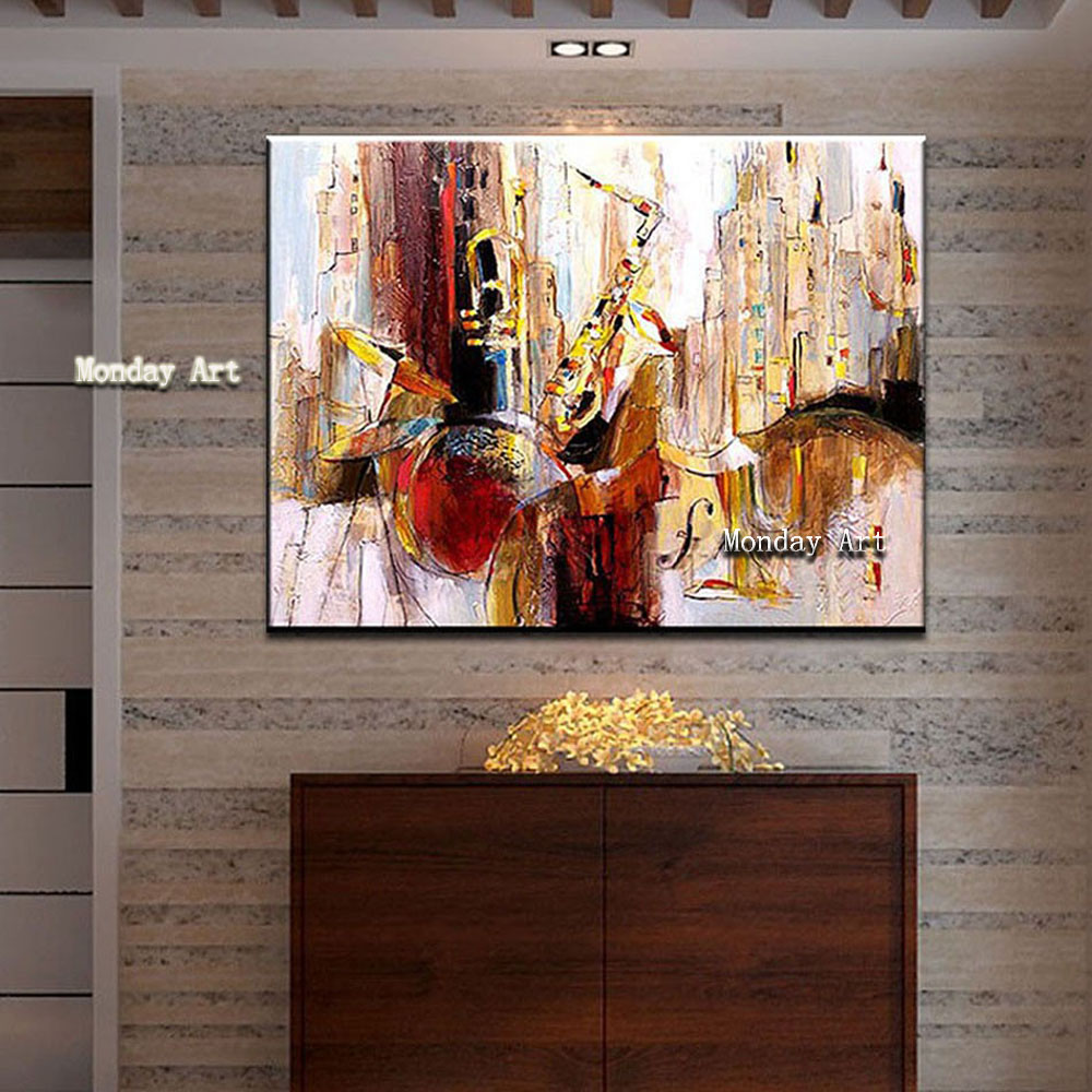 Cuadros Home Decoration Hand painted canvas oil paintings Abstract Painting Wall Art Picture for living room Ornaments Paintings in Painting Calligraphy from Home Garden