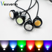 18MM Car Eagle Eye DRL Led Daytime Running Lights LED 12V Backup Reversing Parking Signal Automobiles Lamps DRL Car styling(China)