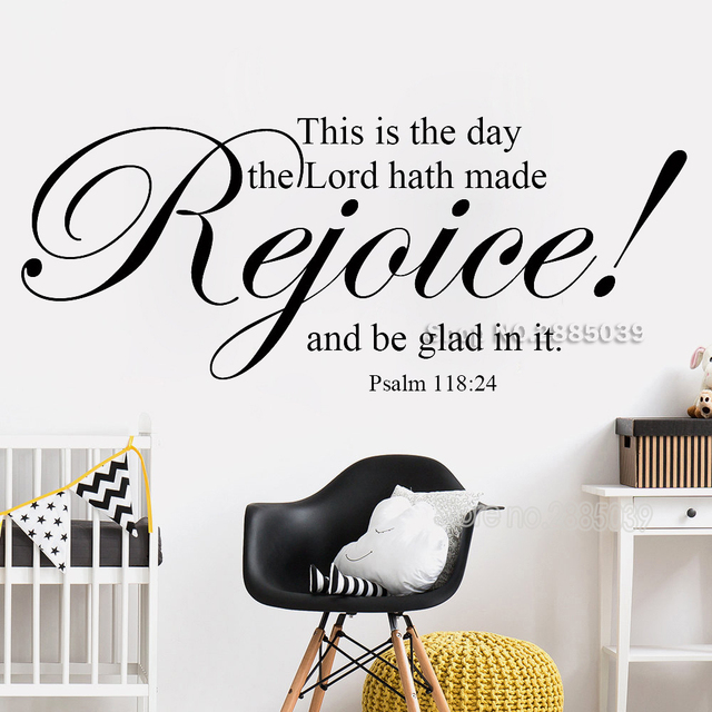 new style rejoice psalm 118:24 vinyl wall decal religious vinyl