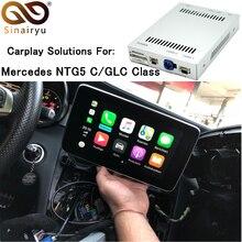 Aftermarket Mercedes NTG5 C Class W205 GLC W253 Смарт OEM Apple Carplay Android авто зеркального отображения коробка дооснащения с оригинальный микрофон