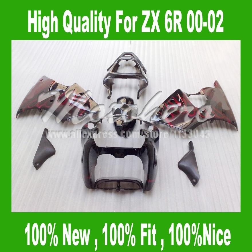 ⊰Mthninja ZX 6R carenado para Kawasaki Ninja ZX 6R 2000 2002 ZX-6R ...