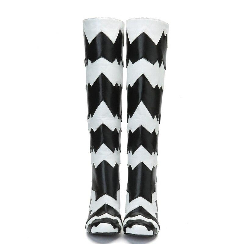 En De Luxe Plus Femmes Hiver Robe Microfibre Haute Black Parti Automne Cuir Genou La Bottes Nouveau Design Vankaring Chaussures Taille Marque x1qIOI