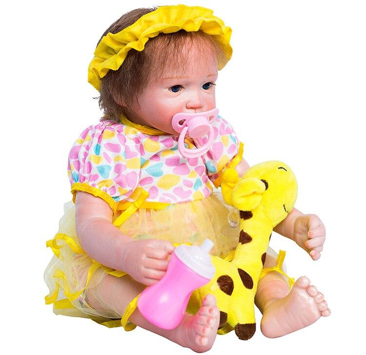 Doux Silicone Reborn Fille 17 pouces Réaliste Bébé Bambin Poupées jouet super real touch bébé reborn lol Réaliste Princesse Bebe