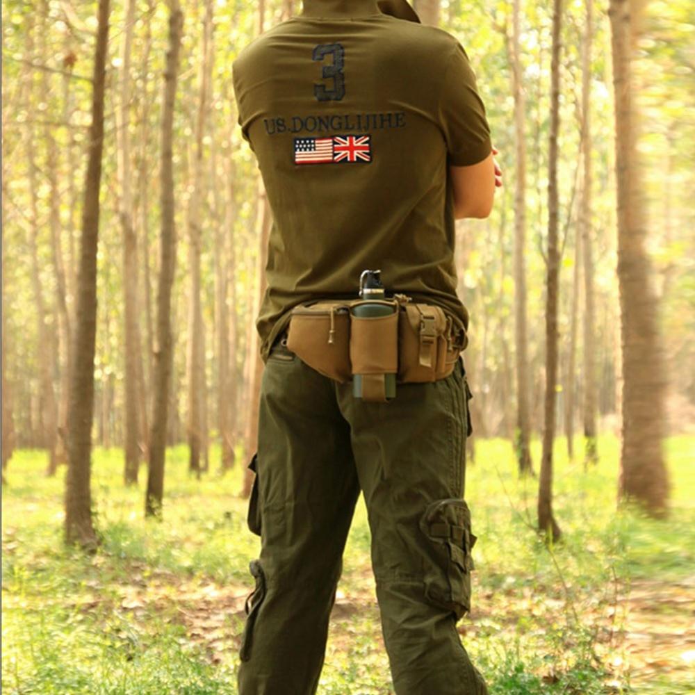 Prix pour Étanche Anti-Te Hommes Durable Nylon Taille Pack Ceinture Hip Bum Militaire Tactique Voyage Randonnée Escalade Courir Bouteille Top qualité