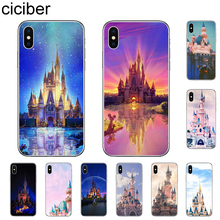 ciciber Cinderella Castle Phone Case For iPhone 7 8 6 6s Plus X XR XS MAX 5 5S SE Cover For iPhone 11 Pro Max Soft TPU Coque ciciber for iphone 7 8 6 6s plus 5s se x xr xs max soft silicone tpu cover for iphone 11 pro max phone case ariana grande coque