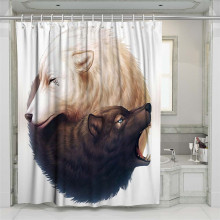 3D Rose Wolf Unicorn Beach Shower Curtain Bathroom Waterproof Polyester Printing Curtains for Bathroom Shower э успенский день рождения почтальона печкина