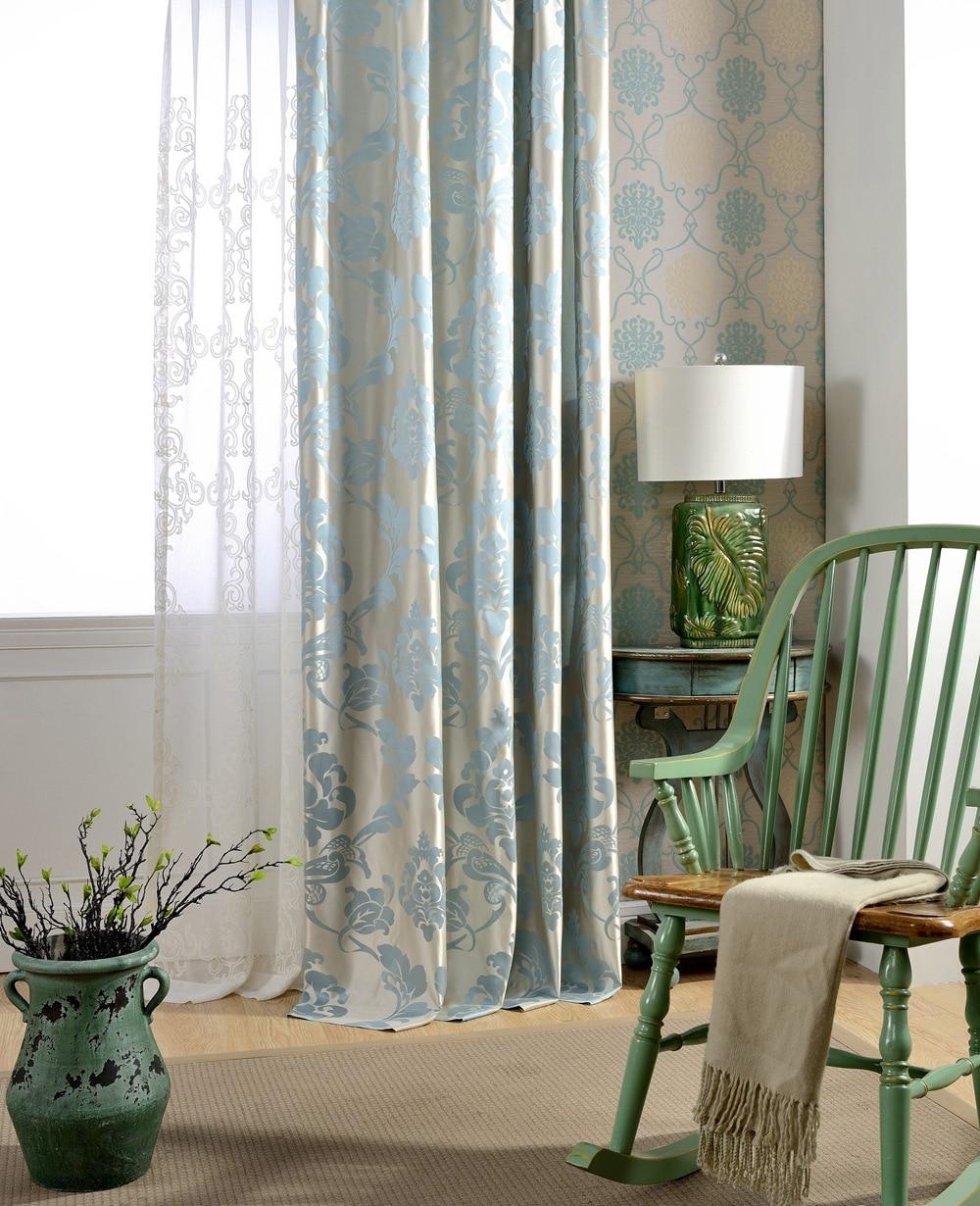 Blue Danube High Precision Jacquard Curtain Floral