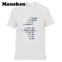 Men 16/17 Champion League hala Spain Crossword T-shirt Ramos real Ronaldo Asensio Modric kroos madrid T Shirt Men's tee W0520015