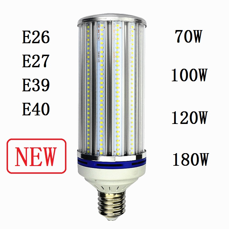 E26 E39 street lighting E27 E40 LED Bulb Light 70W 100W 120W 180W Corn Lamp for industrial high bay Warehouse Engineer Spotlight free shipping e26 e39 100w led corn bulb for post light fixture with etl listed