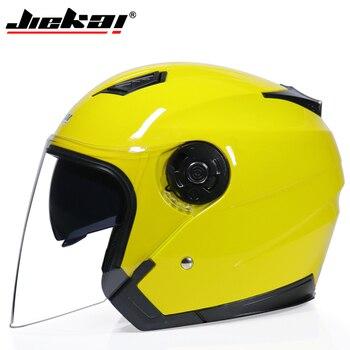 JIEKAI Motorcycle Helmets Electric Bicycle Helmet Open Face Dual Lens Visors Men Women Summer Scooter Motorbike Moto Bike Helmet 8