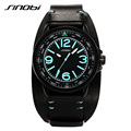 SINOBI 2016 New Design Leather Strap Running Wrist Watches For Men Vogue Cycling Man Watches Casual Outdoor Relogio Masculino