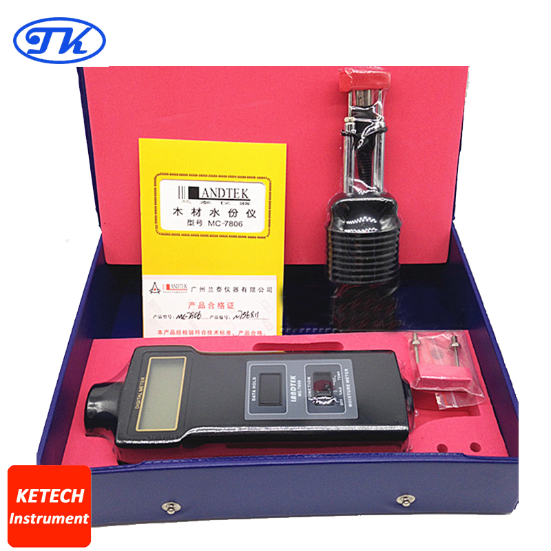 MC7806 Digital Fibre Materials Moisture Meter MC-7806 mc 7806 pin type cotton paper building tobacco moisture meter