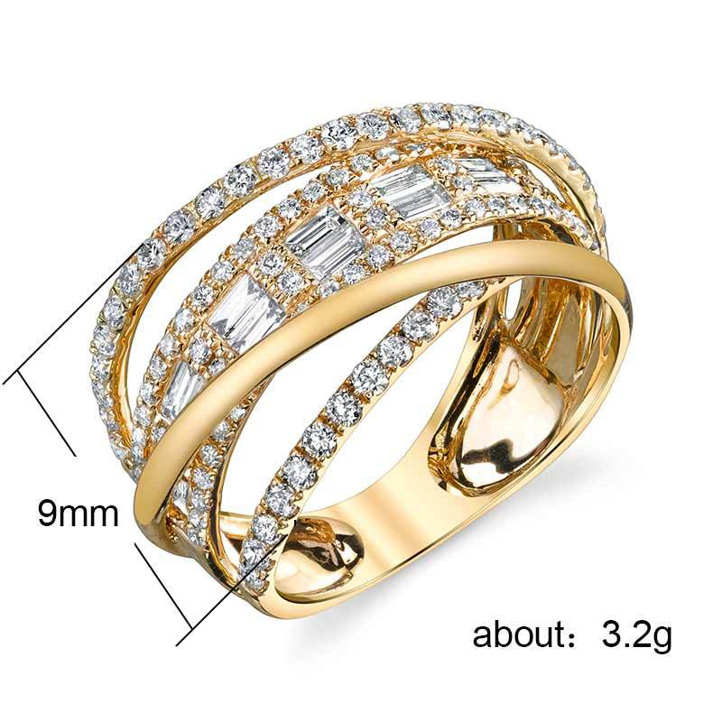 Huitan Stylish Twine Women Ring Micro Paved 3 Color Available Personality Arabic Ring In Bulk Women Jewelry Rings 2019 Wholesale in Rings from Jewelry Accessories