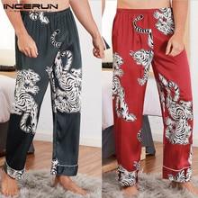 Plus Size Men Sleep Pants Printing Pajamas Comfortable Casua