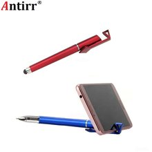 3 in 1 Tablet Stylus Touchscreen pen Balpen Mobiele Telefoon Standhouder Gift Advertentie ad Logo Custom DIY voor Iphone Ipad Samsung(China)