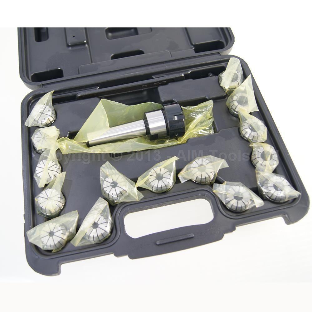 MT4 ER32 15PC Milling Lathe Collet Chuck Set 3 to 20mm 1pcs mt3 m12 er32 collet chuck morse taper holder with 9pcs er32 spring collets for cnc lathe milling tool