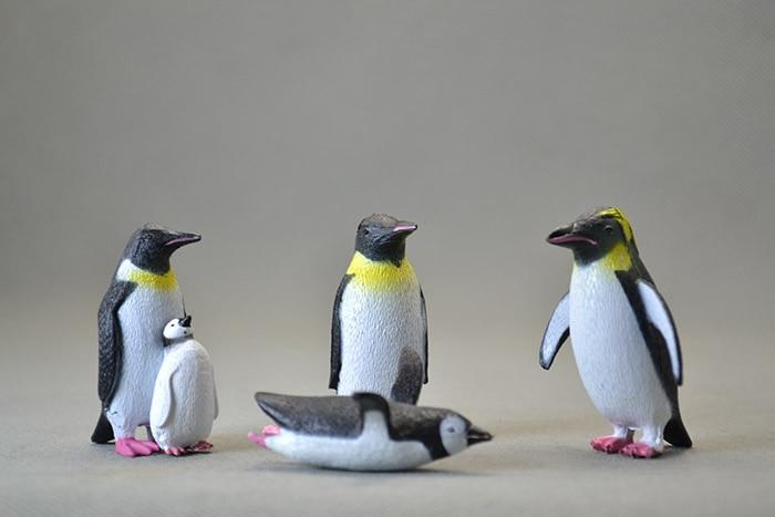 Figure PVC Emperor Penguin Family Dolls Decoration Children Toys 4pcs/Set