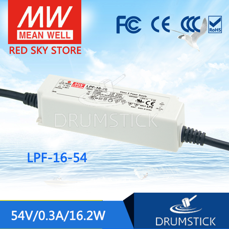 цена на Advantages MEAN WELL LPF-16-54 54V 0.3A meanwell LPF-16 54V 16.2W Single Output LED Switching Power Supply