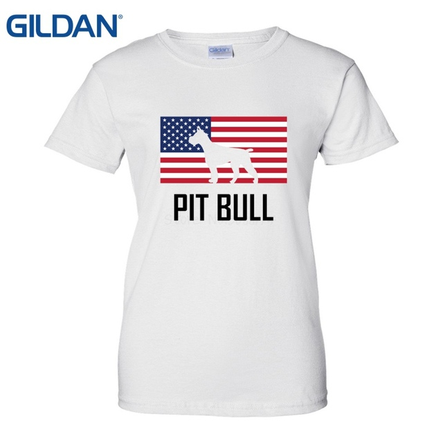1d5a2fc8 US $13.05 10% OFF|Women Summer Style Pit Bull American Pitbull T Shirt  Custom Team Shirts Round Neck Best Selling Female Natural Cotton Shirt-in  ...