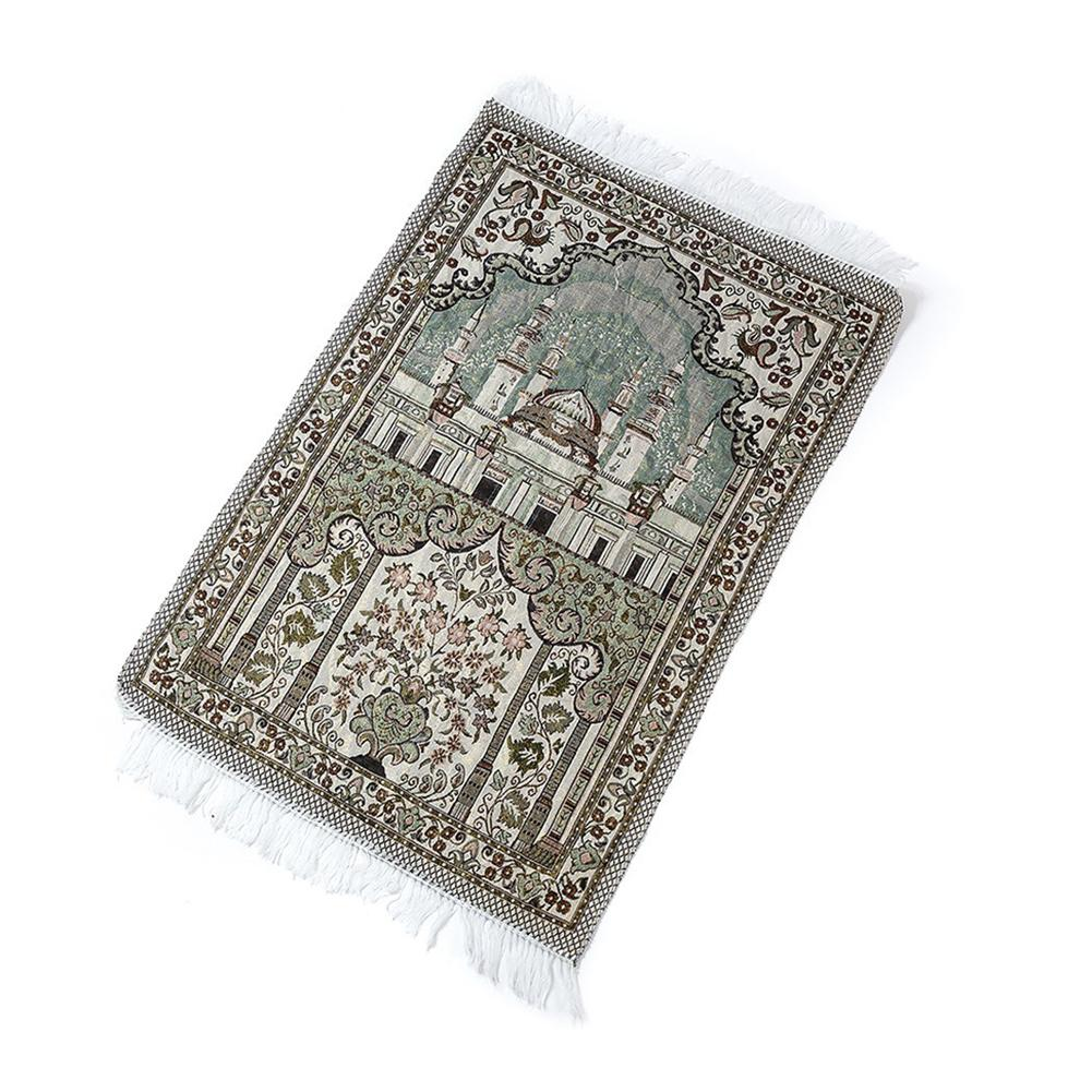Image 3 - High Quality Prayer Mat Soft Cotton Islamic Rug Musallah Sejadah  Janamaz LUX Floor Mats Thick Exquisite Elegant Prayer BlanketRug   -