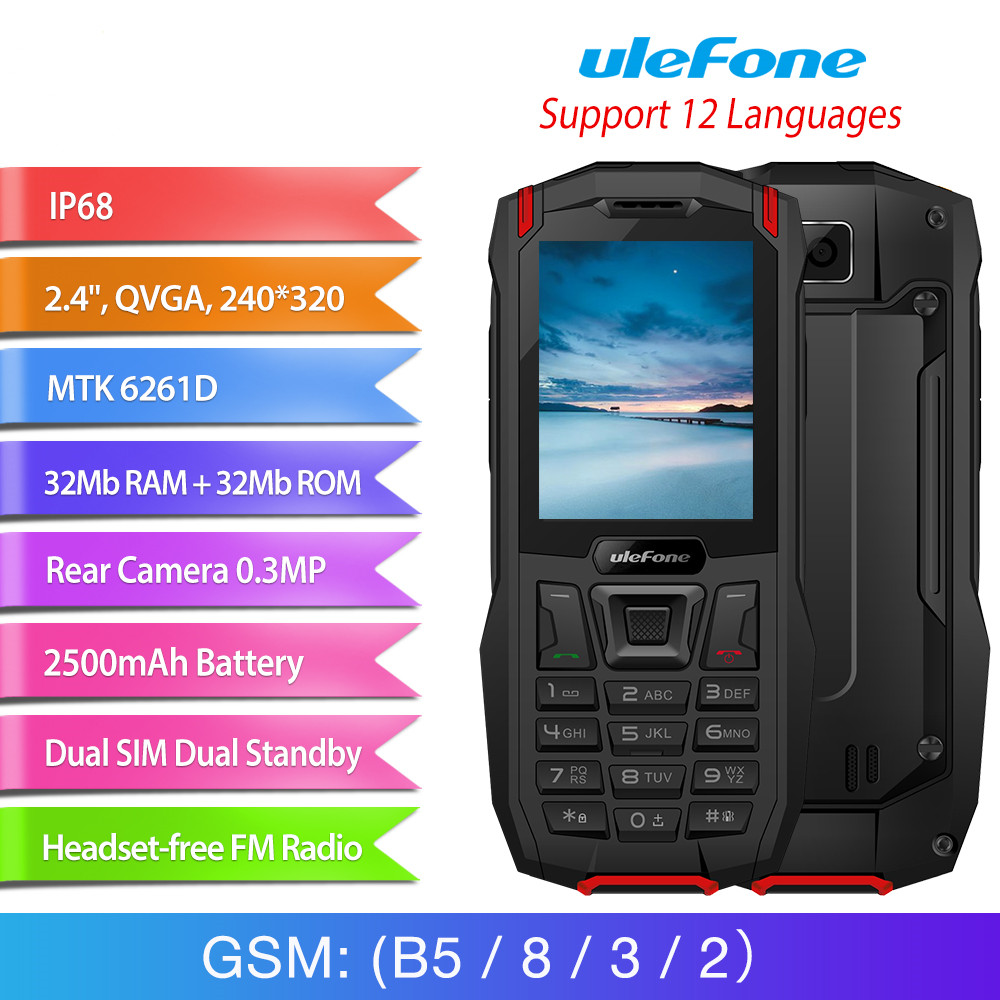 Téléphone portable extérieur étanche Ulefone Armor Mini IP68 2.4