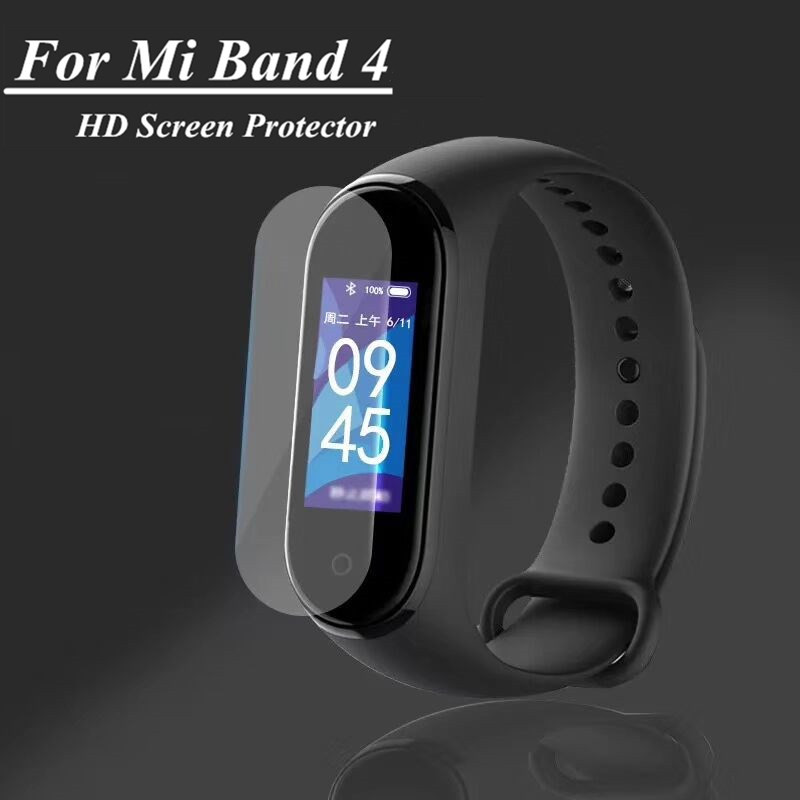 Mi Band 4 5pcs 2pcs 1pcs Screen Film Protective Film Protector For Xiaomi Mi Band 4 Anti Scratch Mi Band4 Bracelet Miband 4
