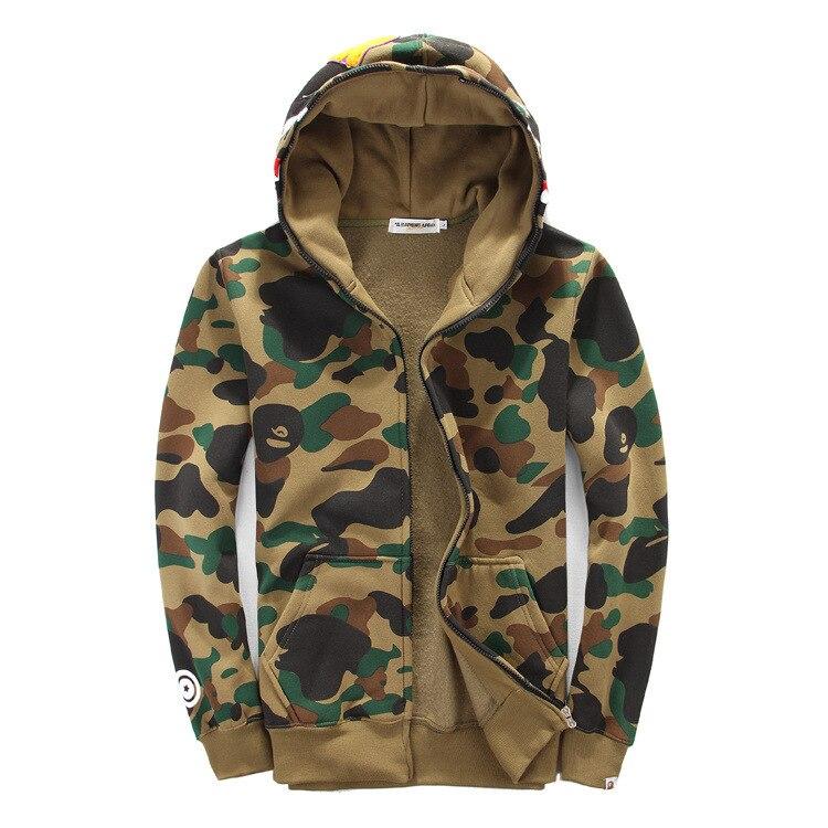 Us Army Camouflage Mens Full-Zip Up Hoodie Jacket Pullover Sweatshirt