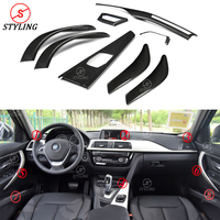 For BMW F30 F34 Carbon Interior Trim Cover car sticker 3 Series F30 F34 & 4 Series F32 F36 Carbon Fiber Interior Cover trim LHD