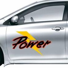 Power Fashion Vinyl Car Sticker Waterproof Reflective Decal Custom Made Your Car DIY Car Decoration