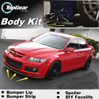 For Mazda 6 M6 MPS For Mazda6 Atenza Bumper Lip / Front Spoiler Deflector For TOPGear Friend Car Tuning / Body Kit / Strip Skirt