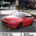 Para Mazda 6 M6 MPS para Mazda6 Atenza Bumper Lip / Spoiler dianteiro defletor para TOPGear de amigo carro Tuning / Body Kit / faixa saia