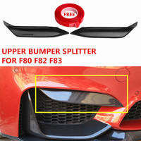 MP Style Carbon Fiber Upper Bumper Splitter For BMW F80 M3 F82 F83 M4 Convertible Front Bumper Protector M Performance 2012+