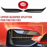 MP Style Carbon Fiber Upper Bumper Splitter For BMW F80 M3 F82 F83 M4 Convertible Front Bumper Protector M Performance 2012+