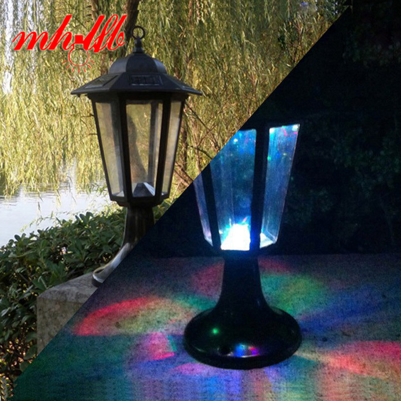 Waterproof luz de led solar panel wall lamp retro outdoor - Luz solar exterior ...