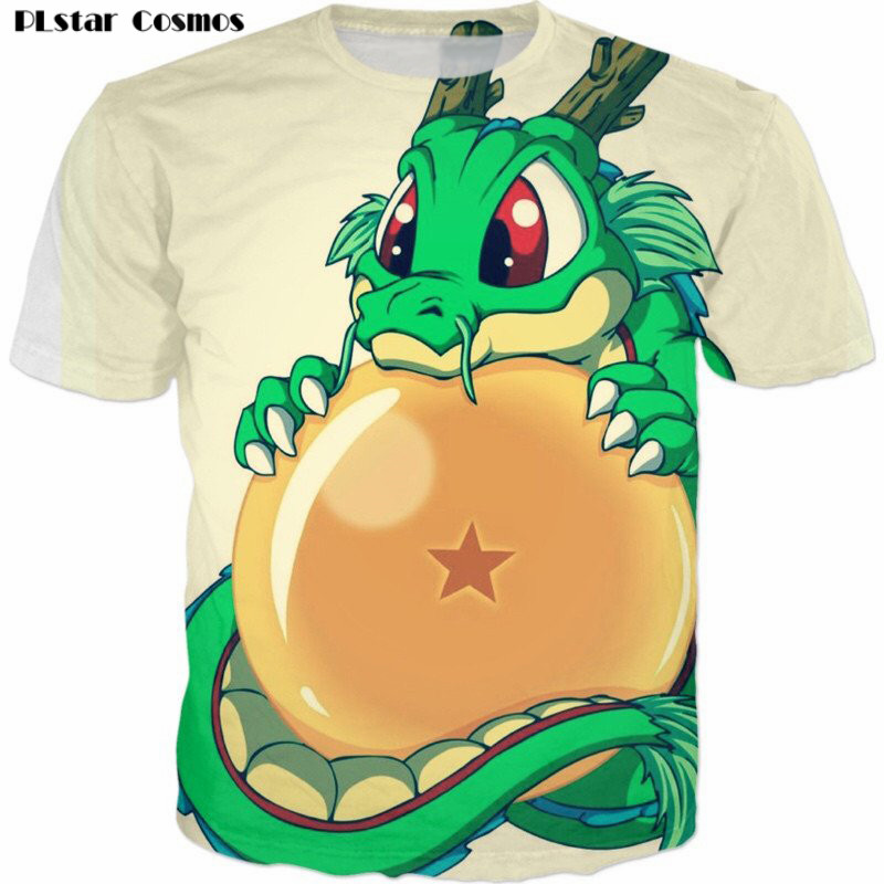 PLstar Cosmos Newest 2018 Fashion Men's Dragon Ball Z DBZ T Shirt Novelty Goku Tops Men Tshirt Homme Short Sleeve T-shirt tops