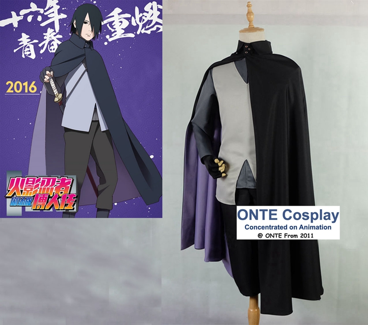 все цены на 2016 Anime BORUTO NARUTO THE MOVIE Cosplay Costumes Uchiha Sasuke Cos for Halloween Party