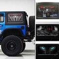 Бесплатная Доставка! 2 шт для Jeep Wrangler 2 двери заднего окна автомобиля 3D стикер