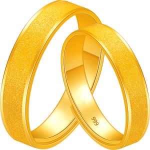 Image 5 - BTSS 24K Pure Gold Ring Real AU 999 Solid Gold Rings Good Shiny Beautiful Upscale Trendy Classic Fine Jewelry Hot Sell New 2020