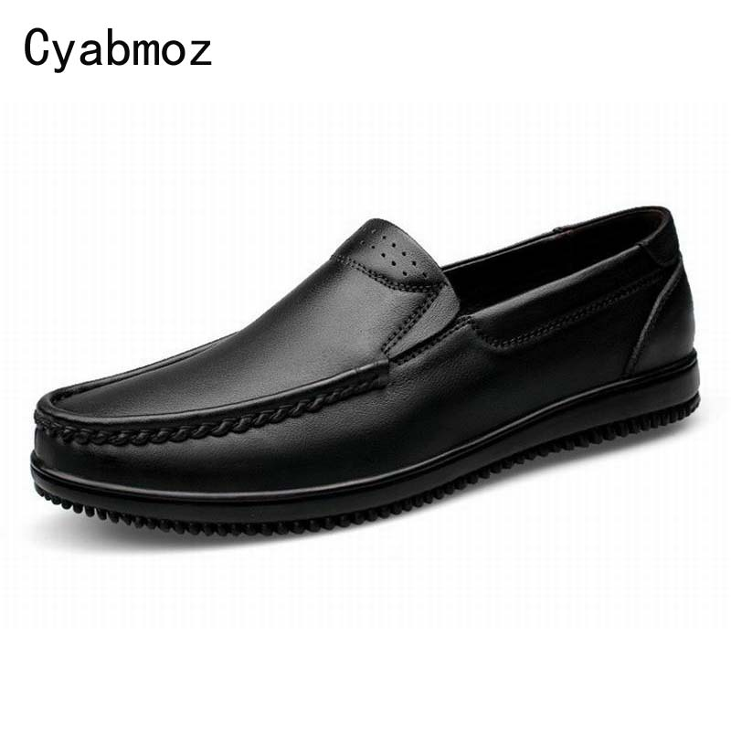 Fashion Popular Men Flat Shoes Genuine Leather Breathable Moccasins Male Classic Casual Boat Shoes Lazy Loafers Driving shoes bimuduiyu new england style men s carrefour flat casual shoes minimalist breathable soft leisure men lazy drivng walking loafer