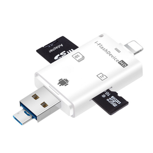 Image 4 - Çoklu 1 TF USB bellek adaptörü için Micro SD kart okuyucu adaptörü Flash sürücü çoklu OTG okuyucu iPhone 5 5S 5C 6 7 8